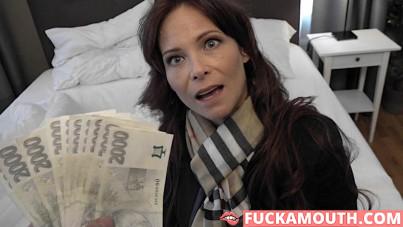 American pornstar on Czech streets