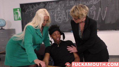 black boy gets crazy sex with his teachers