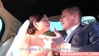 bride gets fucked hard by husband and his friend