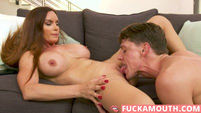 busty MILF seduced and fucked a young guy
