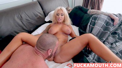 busty wife gets cock while her husband sleeps