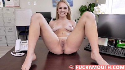 cute newbie gets fucked on the office table