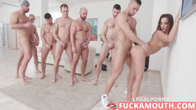 double anal penetration and 7 cums in mouth