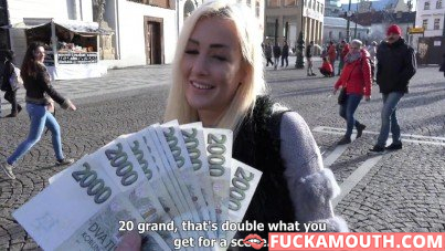 double pay for sex with a Czech pornstar