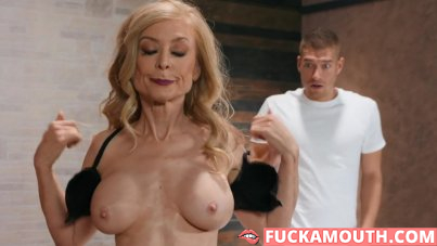 mature cougar catches a young masseur