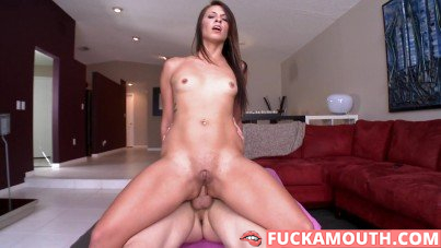 nice swallow after some ass to mouth