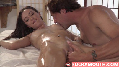 oiled up and fucked by the mature man