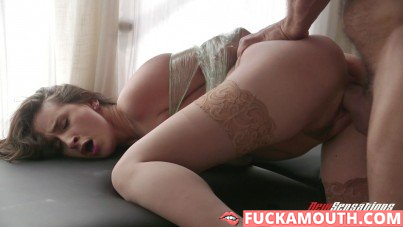 plastic wrap BDSM with a busty wife