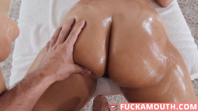 playing with her wet pussy