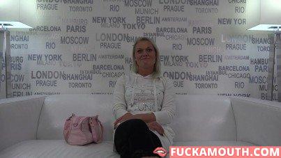 Simona, casting and fuck
