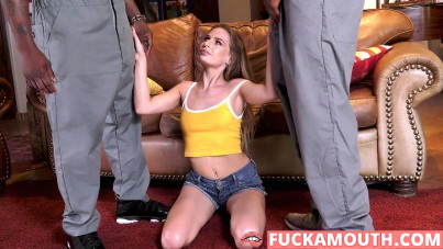 uniform makes her wet and horny