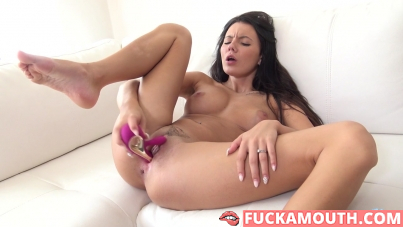 babe having fun with your sex toy