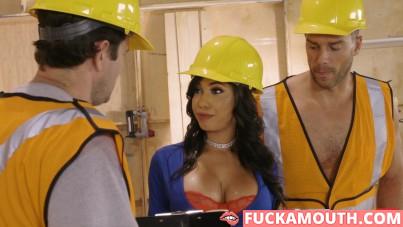 builders' busty boss