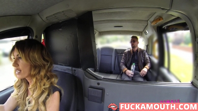 busty driver seduced a passenger