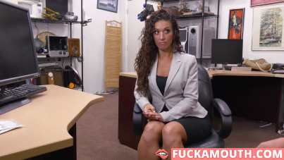 curly latina in laptop service