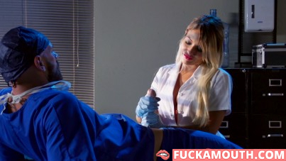 doctor and his nurse are doing hardcore