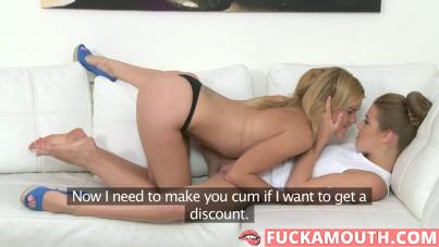 Izzy, lesbian porn casting