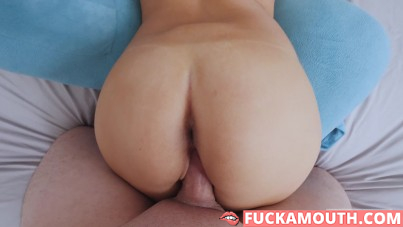 POV sex with a hot busty yoga girl