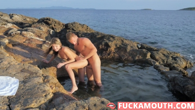 romantic time on the beach