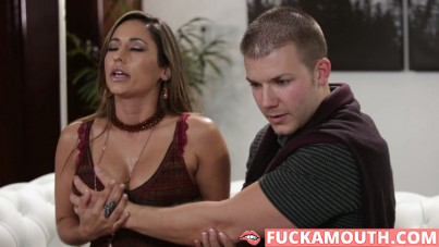 shy husband cheats on with a busty stranger