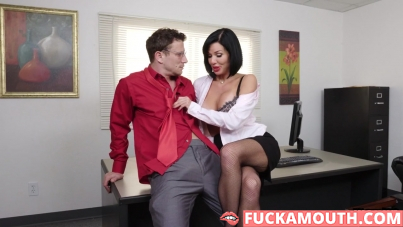 squirt and fisting in office
