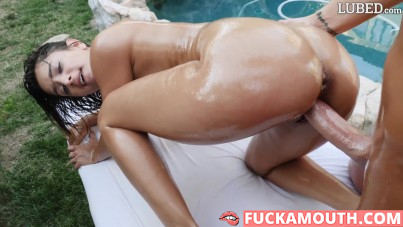 totally oiled up and fucked